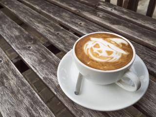 Halloween Pumpkin Latte art coffee