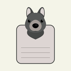 Animal banner with wolf for you text
