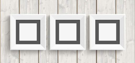 3 Picture Frames Wood