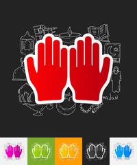 prayer paper sticker with hand drawn elements
