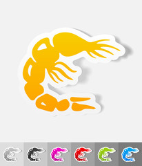 realistic design element. shrimp