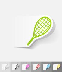 realistic design element. tennis racket
