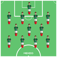 Computer game Mexico Football club player
