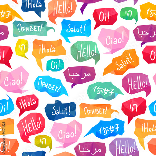 "Speech Bubbles With ""Hello"" On"
