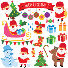winter christmas clip art set