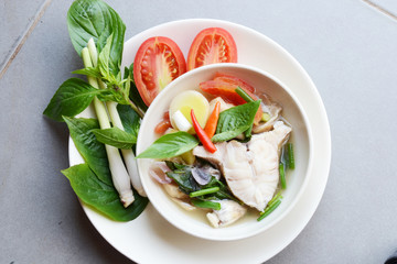 spice clear fish suop