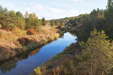 River in an autumn.