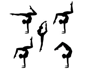gymnast, gymnastics, vector, olympic sports,