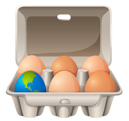 Earth in egg shape