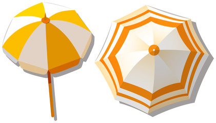 Umbrella from top view