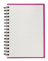 Spiral blank notebook  isolated on white