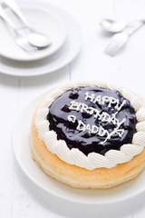 Happy Birthday Daddy Cake Background / Happy Birthday Daddy Cake / Happy Birthday Daddy Cake on White Wooden Background
