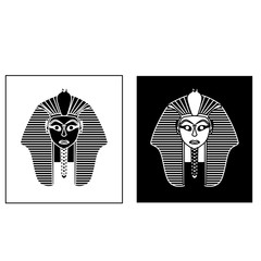 Egyptian style golden pharaoh portrait vector illustration