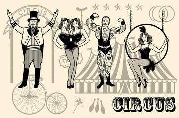 Illustration of circus star.