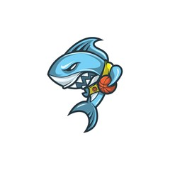 Basketball Shark Mascot