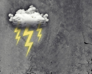 Cloud with three lightning