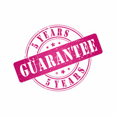 Vector 5 Years Guarantee stamp