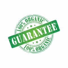 Vector 100% Organic Guarantee stamp