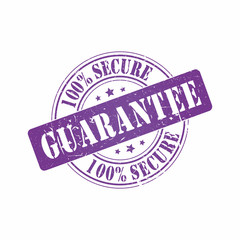 Vector Secure Guarantee stamp