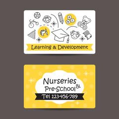 Print preview Business Card, Nursery And preschool