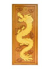 Wooden Golden Dragon