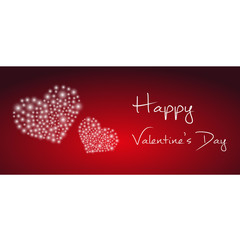 happy valentine with heart from little lights eps10