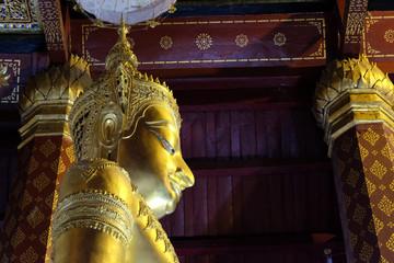 Subduing Mara Buddha image of Wat Nah Phramen. (Lateral 3)