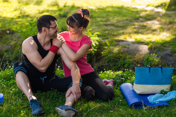 couple after sport exercises