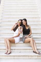 Pretty women outdoor in summer
