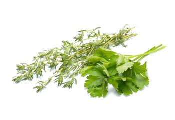 Fresh parsley and thyme