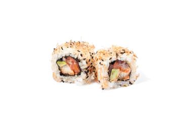 Japanese sushi with fresh seafood