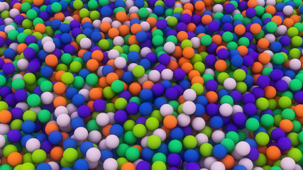 Various colored balls