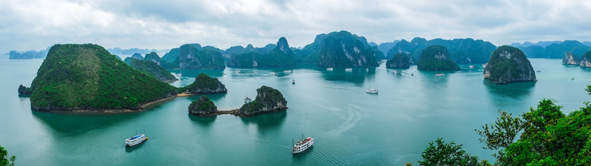 Panorama of Halong Bay, Vietnam