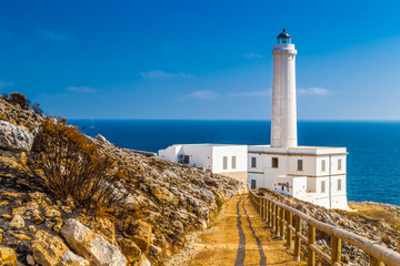 Photo sur Plexiglas Phare The lighthouse of Cape of Otranto in Italy
