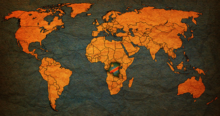 democratic republic of congo territory on world map