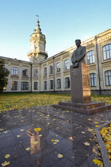 Kiev polytecnic institute and Victor Kirpichev monument/ Kiev polytecnic institute and Victor Kirpichev monument, Kiev Ukraine