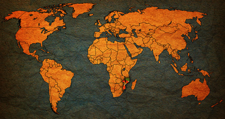 Mozambique territory on world map