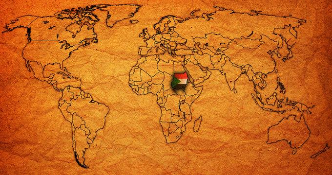 sudan territory on world map