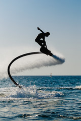 Photo Blinds Water Motor sports Silhouette of a hover board rider