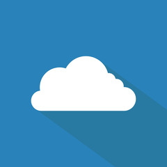 Cloud icon , Flat design style, vector illustration. long shadow