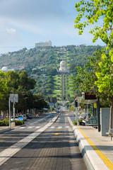 View of Haifa Bahai gardens