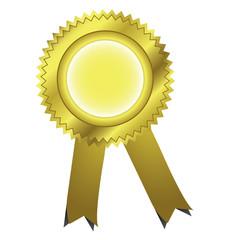 Gold ribbons award. Vector