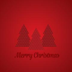 Geometric Christmas Tree - Red