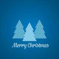 Geometric Christmas Tree - Blue and White
