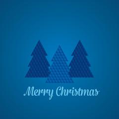 Geometric Christmas Tree - Blue