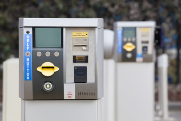 Car park ticket machine