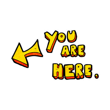 cartoon you are here sign