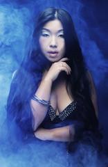 Beautiful young asian model.