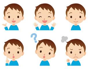 子供 男の子 表情ポーズ セット