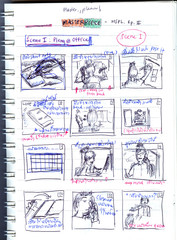 Simple storyboard / An example of simple story used for filmmaking and vdo production
